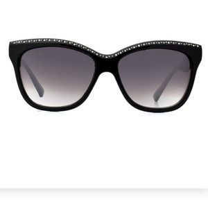 Accessories - New Black Frame with Gems Retro Style Sunglasses